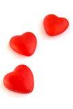 3 красных сердца Стоковая Фотография RF
