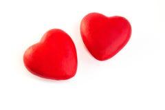 2 красных сердца Стоковые Изображения