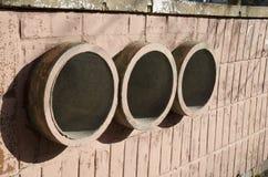 3 красных трубы Стоковое Изображение RF