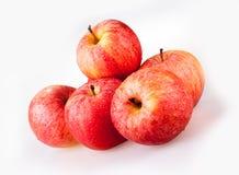 5 красных яблок Стоковая Фотография