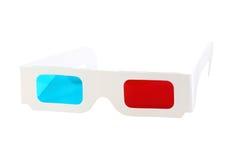 Красн-голубые бумажные стекла Стоковые Изображения