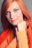 Красн-с волосами девушка Стоковое Изображение RF