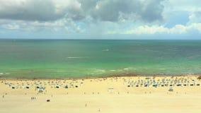 Красота воздушное видео- славное Miami Beach акции видеоматериалы