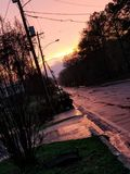 Красота в дожде стоковое изображение rf
