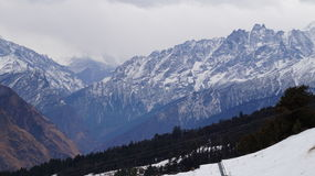 Красота горы снега Стоковые Изображения