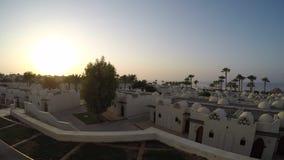Красота египетской гостиницы в промежутке времени утра 4K сток-видео