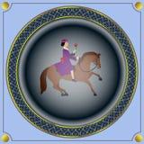 Красота женщины и лошади Стоковое Изображение RF