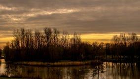 Красота захода солнца Стоковое Изображение