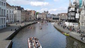 Красота здания воды из городского водопровода Belgià каникул « Стоковое Изображение RF
