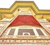 Красота индийского дворца города наследия, Джайпура стоковое изображение rf