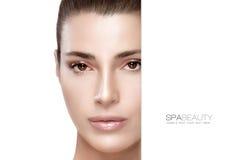 Красота и концепция skincare Девушка спы Стоковое Изображение RF