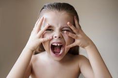 Красота и счастливый ребенк стоковые изображения