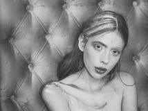 Красота, мода, взгляд Visag макияжа красоты стоковое изображение