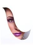 Красота моды составляет с соответствуя губами и ногтями стоковые изображения