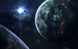 Красота, планеты, звезды и галактики глубокого космоса в бесконечной вселенной Элементы этого изображения поставленные NASA Стоковая Фотография