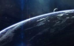 Красота, планеты, звезды и галактики глубокого космоса в бесконечной вселенной Элементы этого изображения поставленные NASA Стоковое фото RF