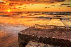 Красота пляжа Kiamsam несравнена, остров Labuan Стоковое Изображение RF
