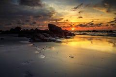Красота пляжа Kiamsam несравнена, остров Labuan Стоковое фото RF