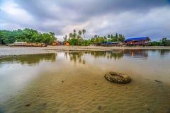 Красота пляжа Kiamsam несравнена, остров Labuan Стоковая Фотография RF