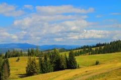 Красота прикарпатских гор Стоковое фото RF