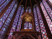 Красота Святого--витражи chapelle Стоковое Изображение RF