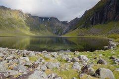 Красота северной горы Норвегии Стоковое Изображение RF