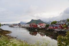Красота северных гор и океана Норвегии Стоковая Фотография