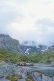 Красота северных гор и океана Норвегии Стоковое фото RF