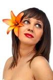 Красота снятая молодой женщины Стоковая Фотография