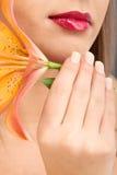 Красота снятая молодой женщины Стоковое Изображение