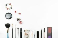 Красота составляет комплект изолированный на белой предпосылке Стоковое Изображение