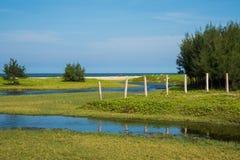 Красота стороны моря в Chidambaram, южной Индии Стоковое Изображение RF