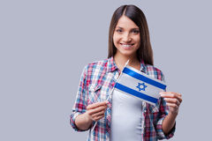 Красота с израильским флагом Стоковое Изображение RF