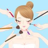 Красота шаржа составляет женщину Стоковая Фотография