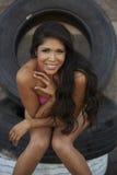 Красота Latina в бикини Стоковое Изображение