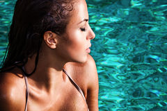 Красотка в воде Стоковое Изображение RF
