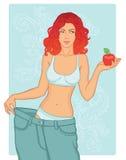 красотка ее вес джинсыов проигрышный старый Стоковая Фотография RF