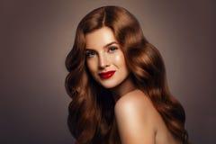 красотка естественная красивейшая женщина redhead Стоковые Изображения RF