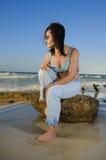 красотка пляжа утесистая Стоковые Фото