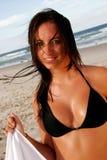 красотка пляжа Стоковая Фотография RF