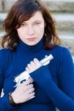 Красотка с пушкой Стоковое Фото