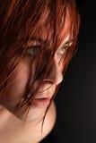 красотка dishevelled женщина Стоковые Изображения