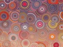 Красочная абстрактная геометрическая иллюстрация картины кругов Стоковое Изображение