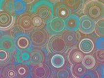 Красочная абстрактная геометрическая иллюстрация картины кругов Стоковое Фото