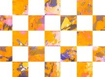 Красочная абстрактная геометрическая предпосылка с квадратами Стоковые Изображения RF