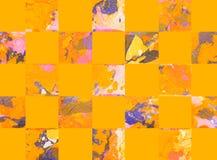 Красочная абстрактная геометрическая предпосылка с квадратами Стоковая Фотография RF