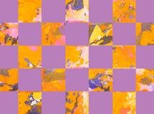 Красочная абстрактная геометрическая предпосылка с квадратами Стоковое Изображение RF