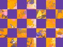 Красочная абстрактная геометрическая предпосылка с квадратами Стоковое Фото