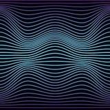Красочная абстрактная линия картина волны безшовная Текстура с волнистыми, billowy линиями для ваших дизайнов иллюстрация вектора