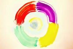 Красочная абстрактная округлая форма предпосылки Стоковая Фотография RF